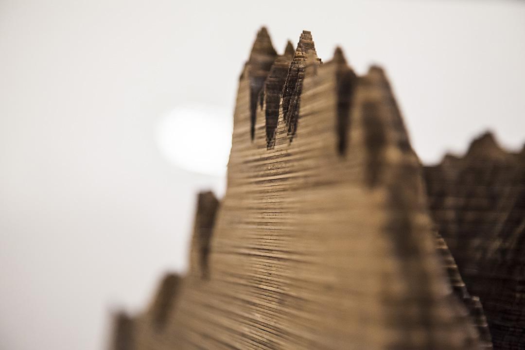 Cutting into Castle Peak