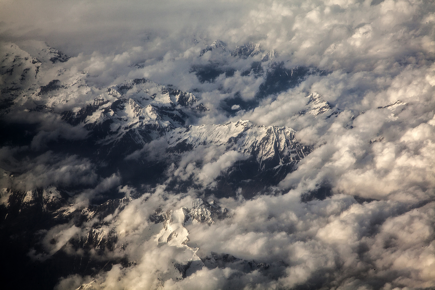 The Alps while flying from Palermo to Brussels