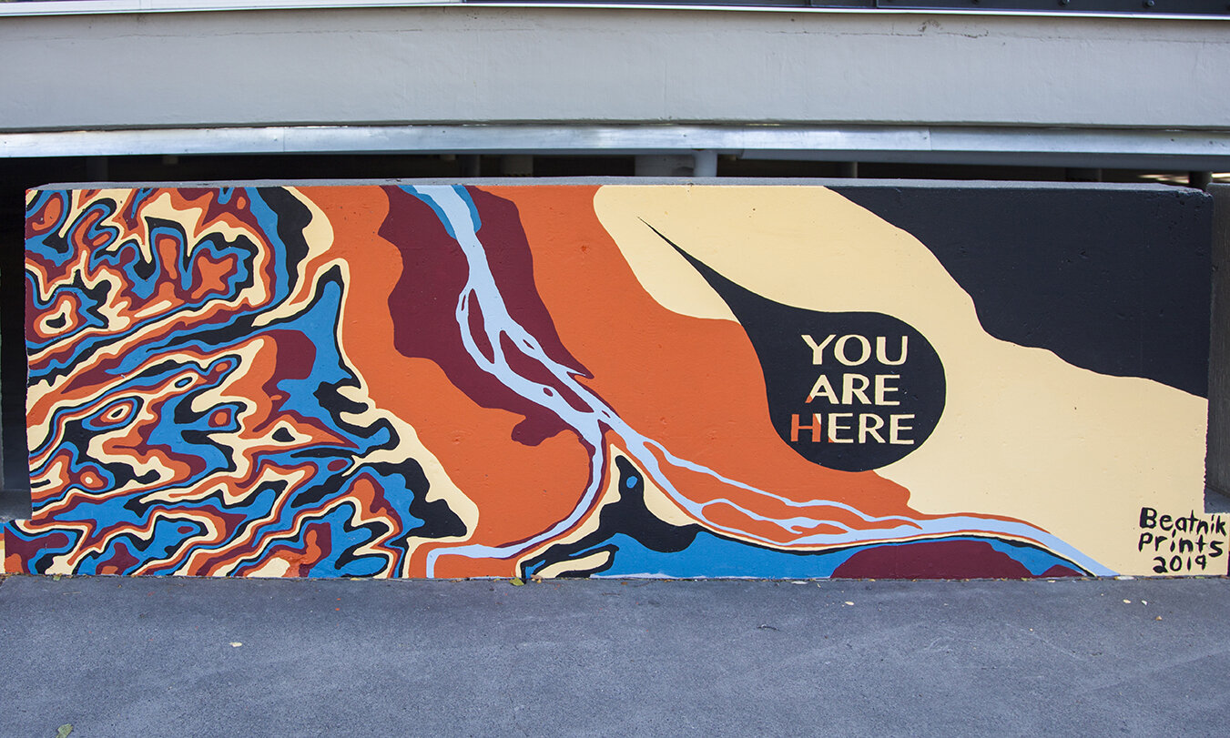 "Section 4, Grand Junction, with the location of the mural marked with a ""You Are Here"" pin in the image"