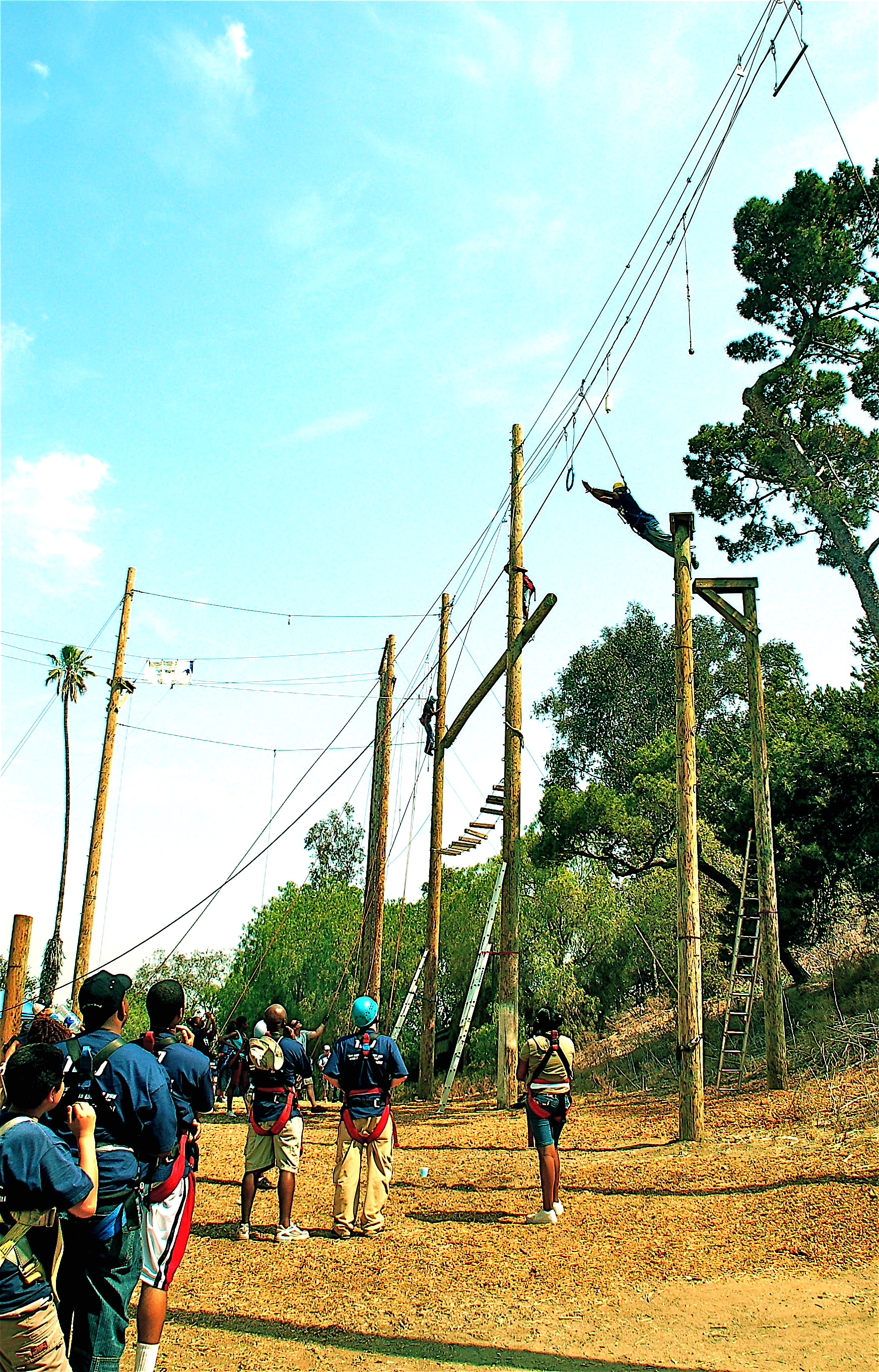 Culver City Ropes Course in Actions.JPG
