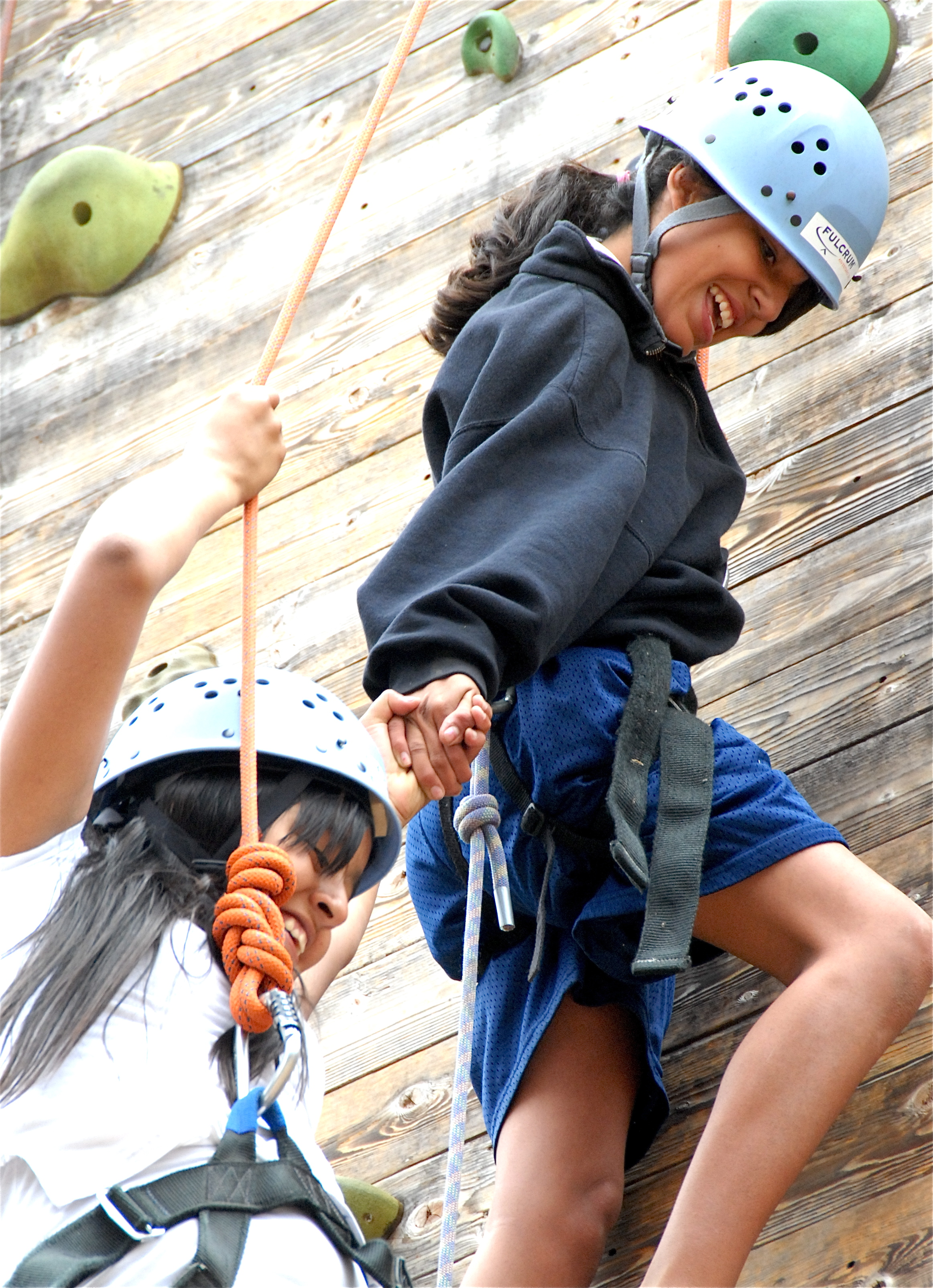 Fulcrum Team Building,leandng a helping hand on the rockwall at Culver City 2.JPG