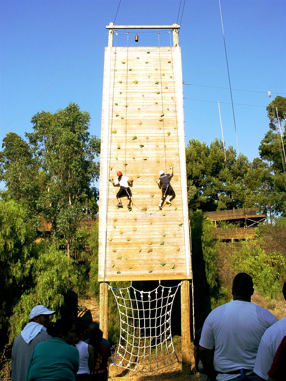 Culver City Climbing Wall Belay and Climbers.JPG