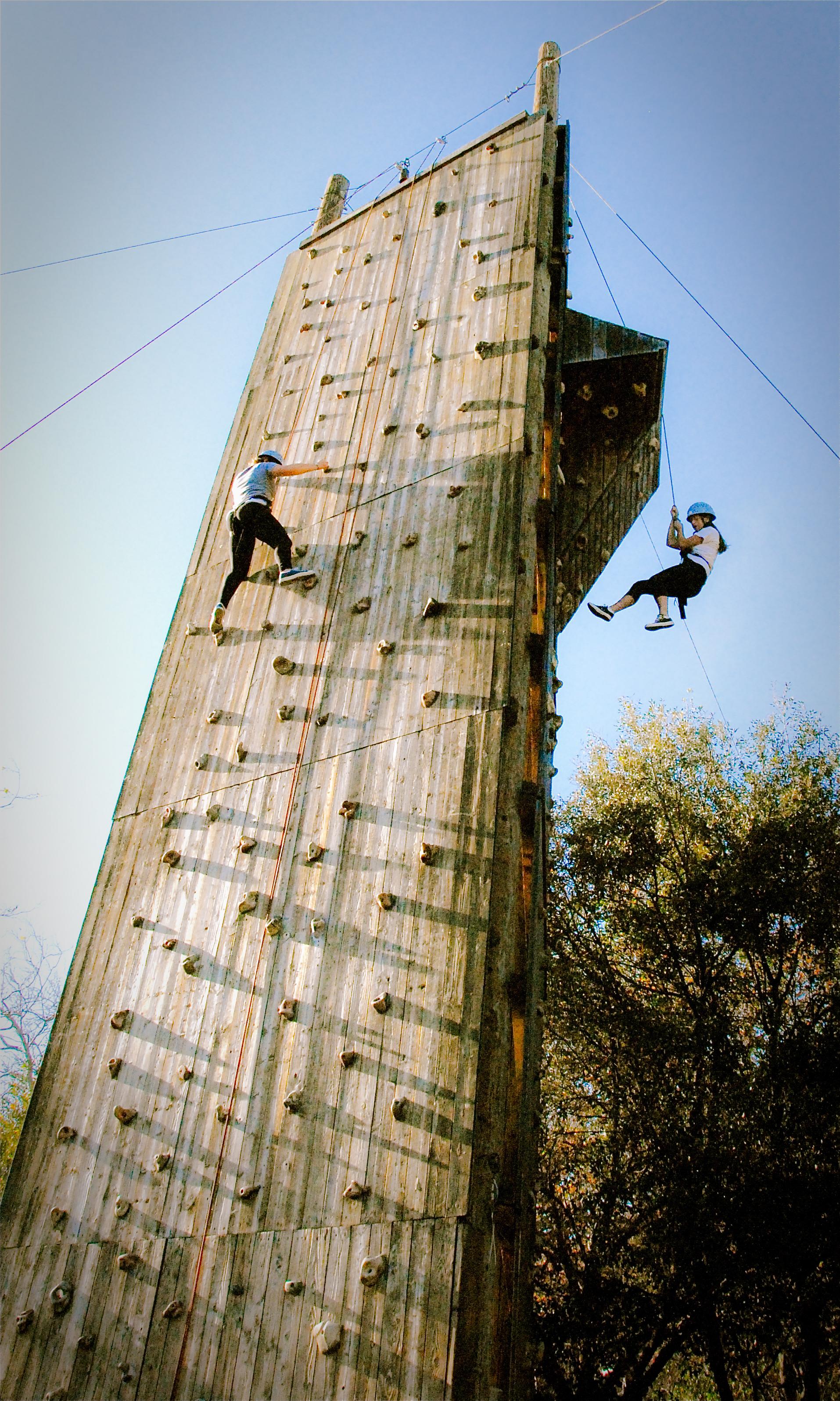 Hess Kramer Climbing Wall rappeling and climbing.jpg