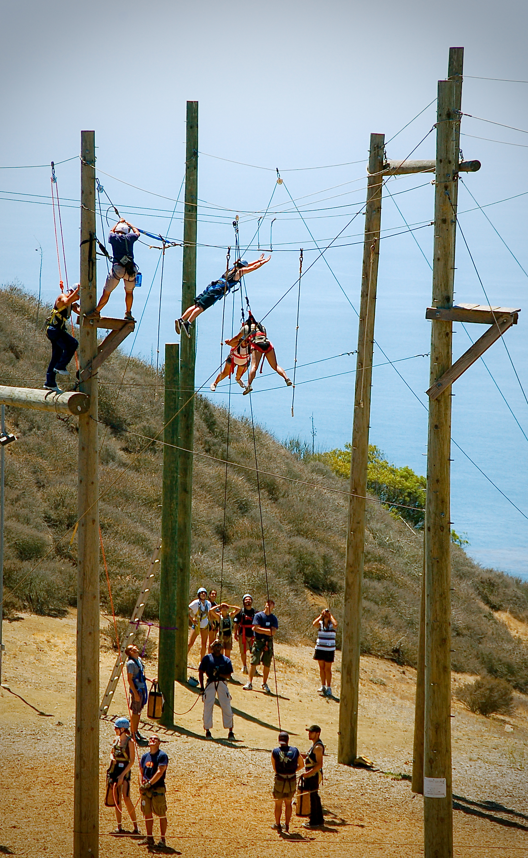 Gindling Hilltop full ropes course in action.jpg
