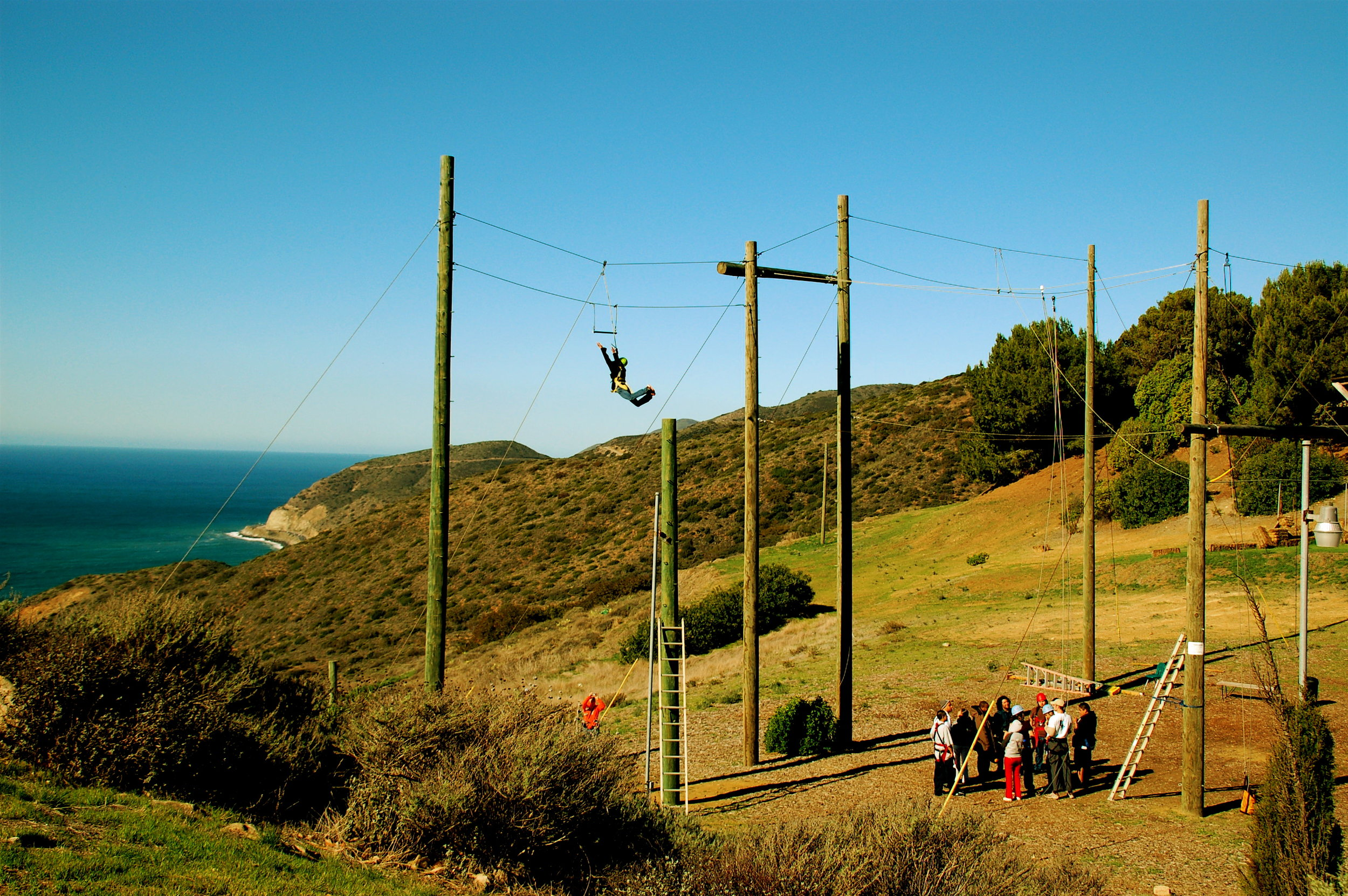Gindling Hilltop High Ropes Course Malibu Overview.JPG