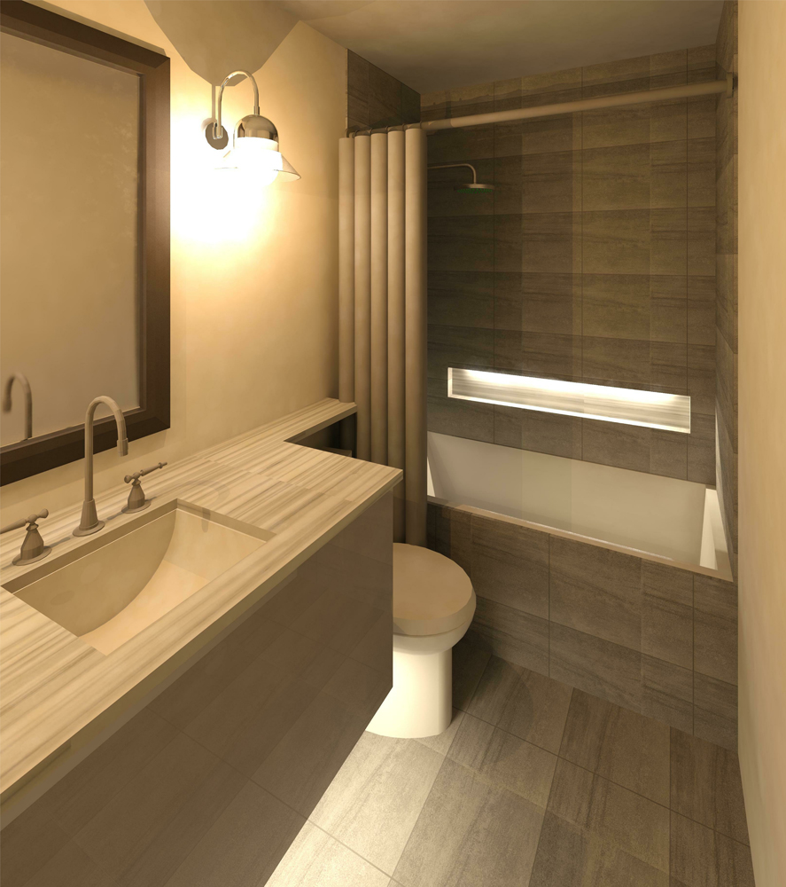 3D Render Image of the new bathroom