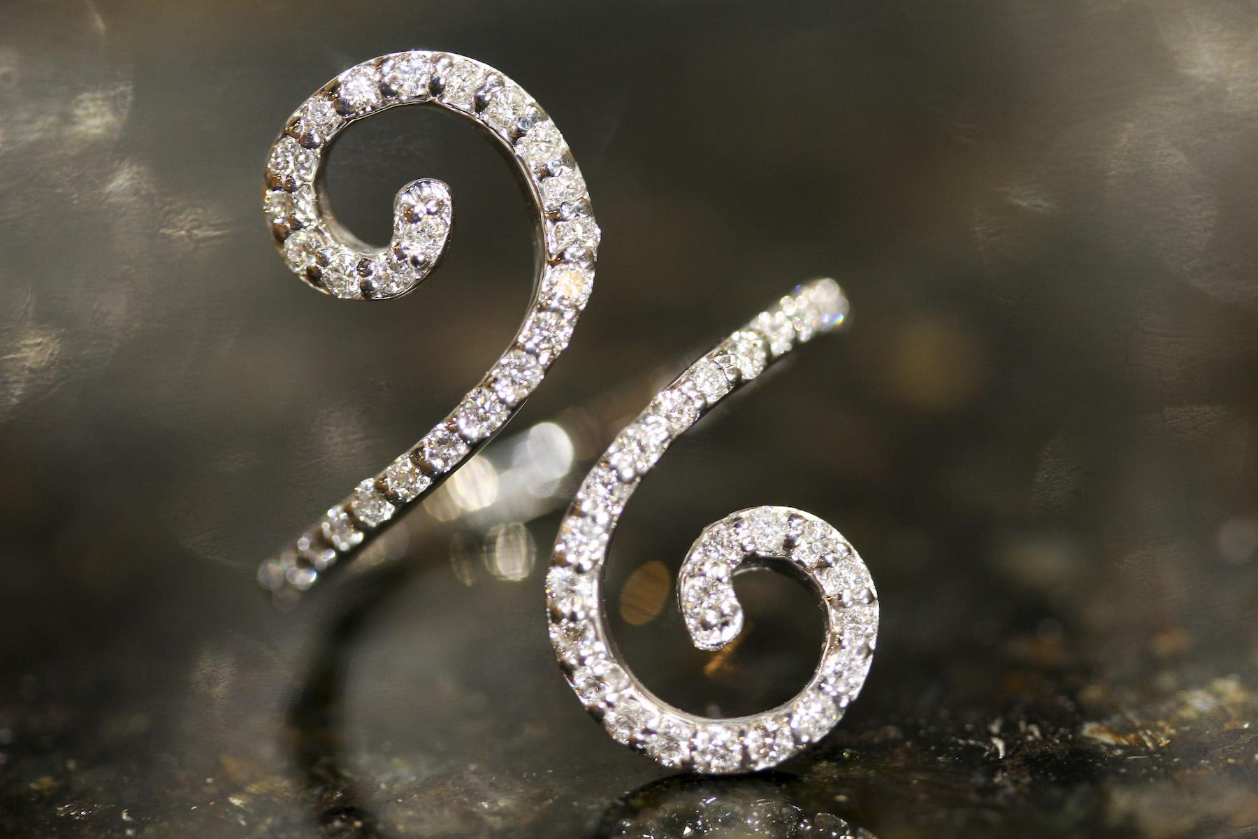 unique white gold diamond ring