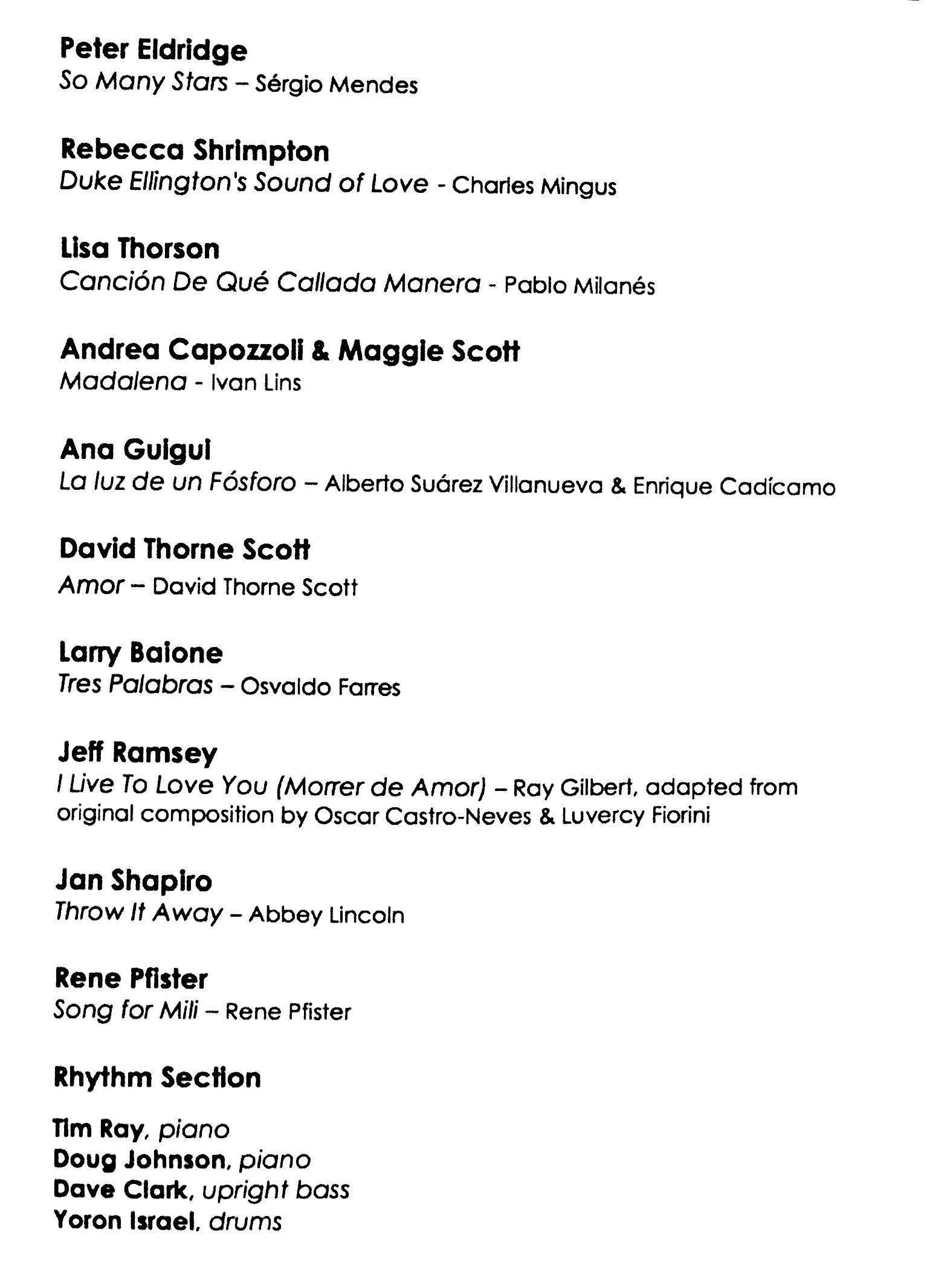 "Program from ""A Celebration of Life: Mili Bermejo-Greenspan"" at David Friend Recital Hall, March 15, 2017"