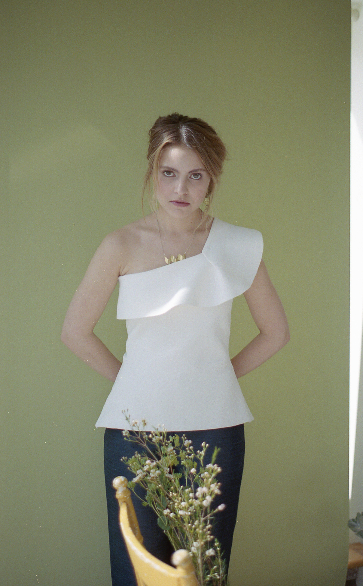 Top from Ruse Boutique Pants by Marigold Earrings and necklace by Sunday Feel