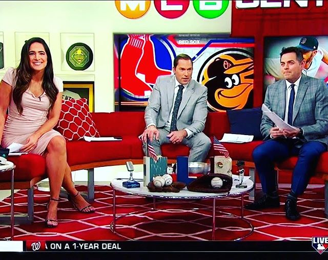 Thanks to MLB Central for another great season. Best way to start the day @laurenshehadi @markdero7 & @realroflo