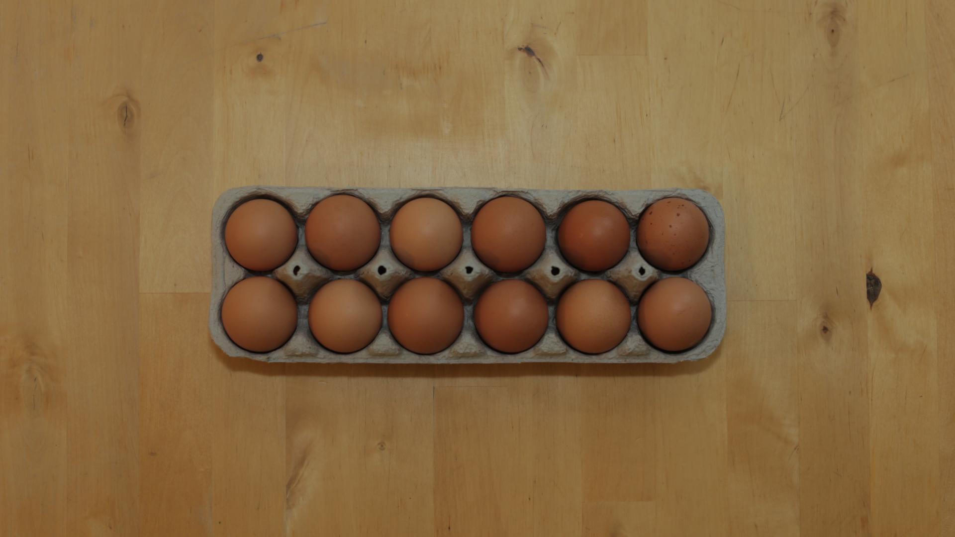 Nothing makes a balanced breakfast like a balanced egg carton.
