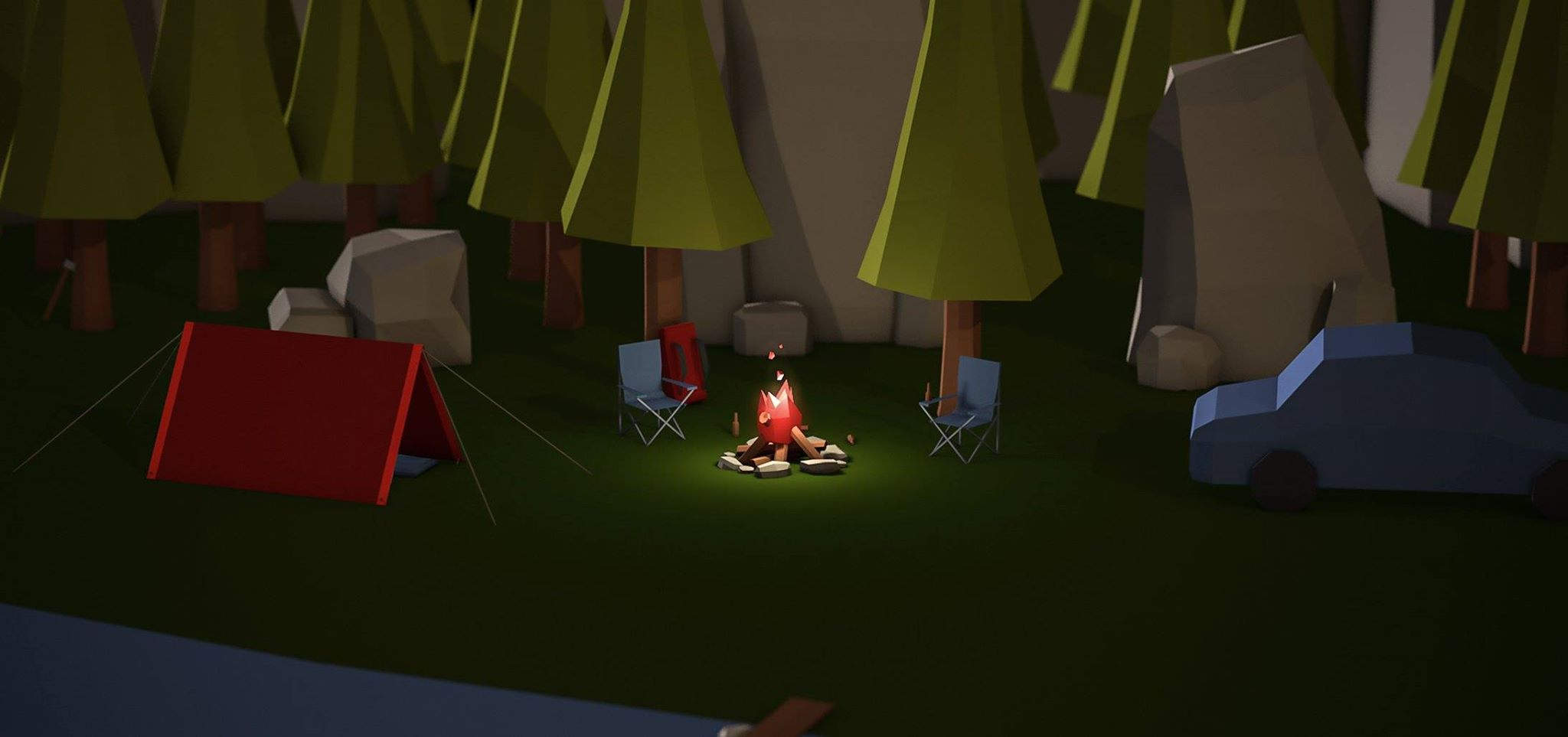 It all starts one night out at the campsite.