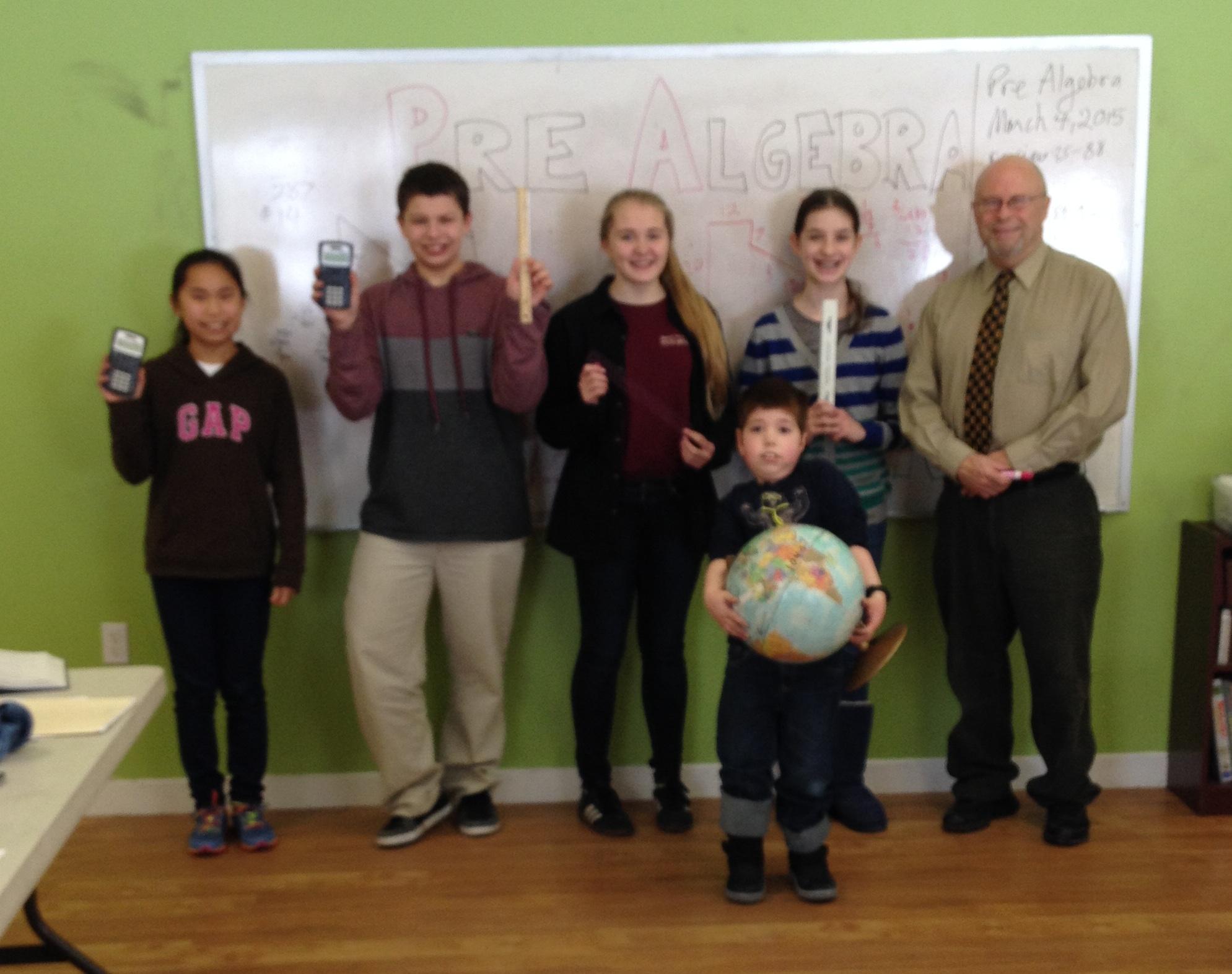 Mr. Mason's Pre-Algebra Class (with apologies for the fuzzy photo!) 2015-16