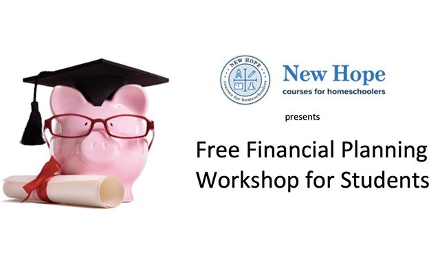 Financial Planning for Youth  Held on 3 Saturdays: March 9, March 16, March 23 9:30 to 11:00 a.m. / Pre-registration is required  Before your high-schooler heads off to college or a first-time job, wouldn't you like them to know more about how to manage their own finances?  This FREE program is designed to help high school students (and others) learn about making informed and effective decisions regarding their finances through educational and experiential opportunities. Commitment: just three Saturday morning classroom sessions, 90 minutes each. If possible, we may also plan a mock trial presentation in U.S. Bankruptcy Court later this spring.  Topics include: -Personal Finance & Budgeting (including balancing a checkbook!) -Using Credit & Credit Cards -Financing a Large Purchase (such as a car, furniture, apartment or tuition) -Consequences of Poor Financial Management  Taught by New Hope parent/bankruptcy lawyer Alex Mattera.  Recommended for grades 10 through 12, as well as college age students. Please contact New Hope by calling (978) 965-8601 or email info@newhopetutorials.org to sign up your student today.