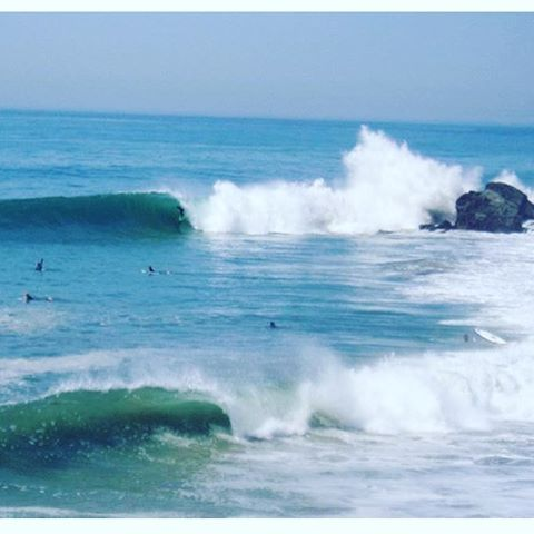 One of my favorite photos of all time. My brother @josh_guys on the best wave I've ever seen out there and I'm in the next best place with my arm in the air. #gobro #goodtimes