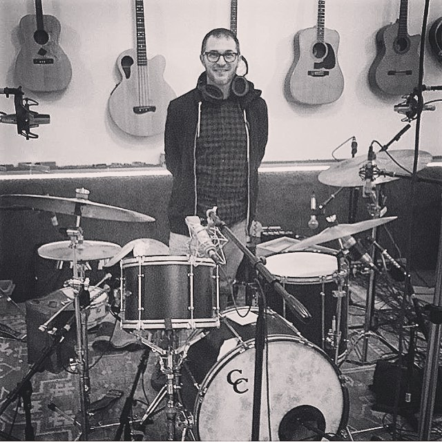 It was epic watching @joeywaronker play on my new album, knowing he's recorded and played with some legends. #beck #elliottsmith #paulmccartney #johnnycash #atomsforpeace to list a few. @jessebergometer #brotherynstudios