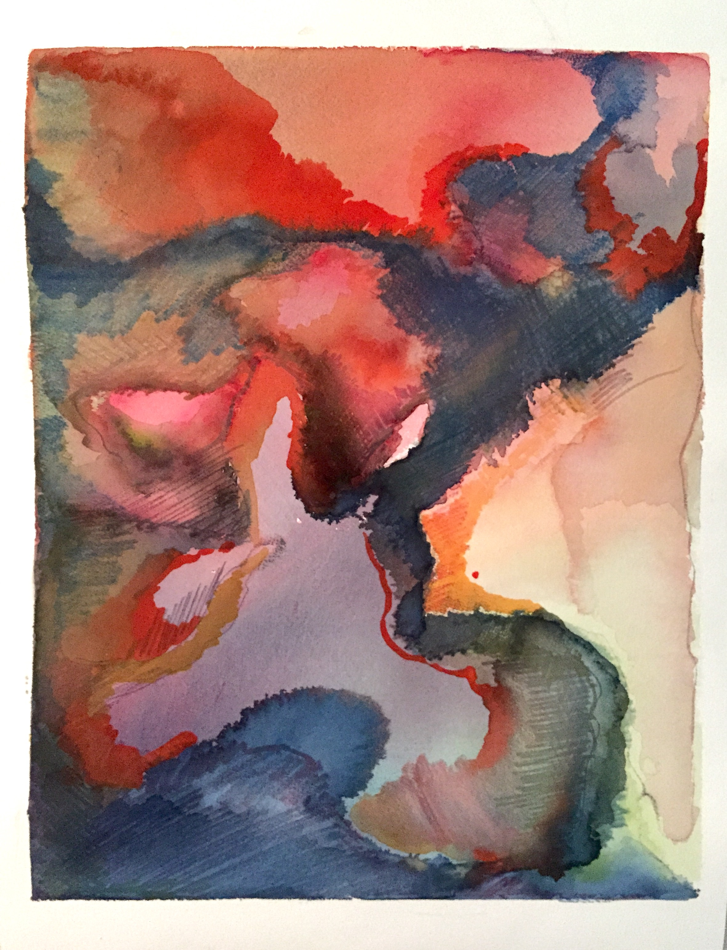 Abstract Watercolor Landscape Coral Lagoon.jpg
