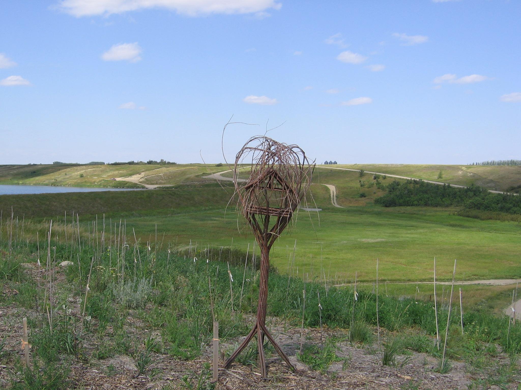 Eco-Centre display garden in Craik, Saskatchewan, demonstrating sustainable landscaping methods