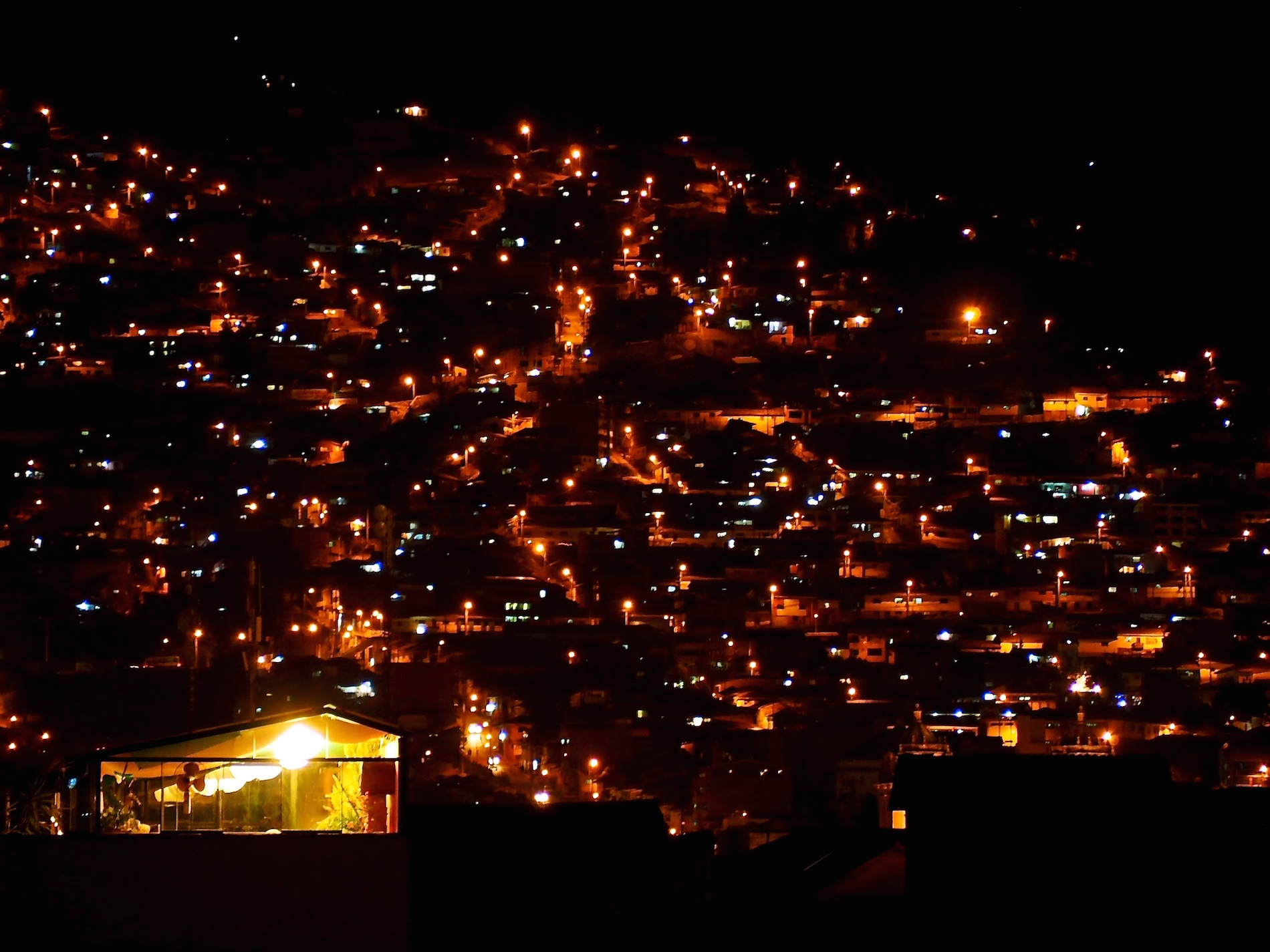 Hill At Night, Cuzco, Peru
