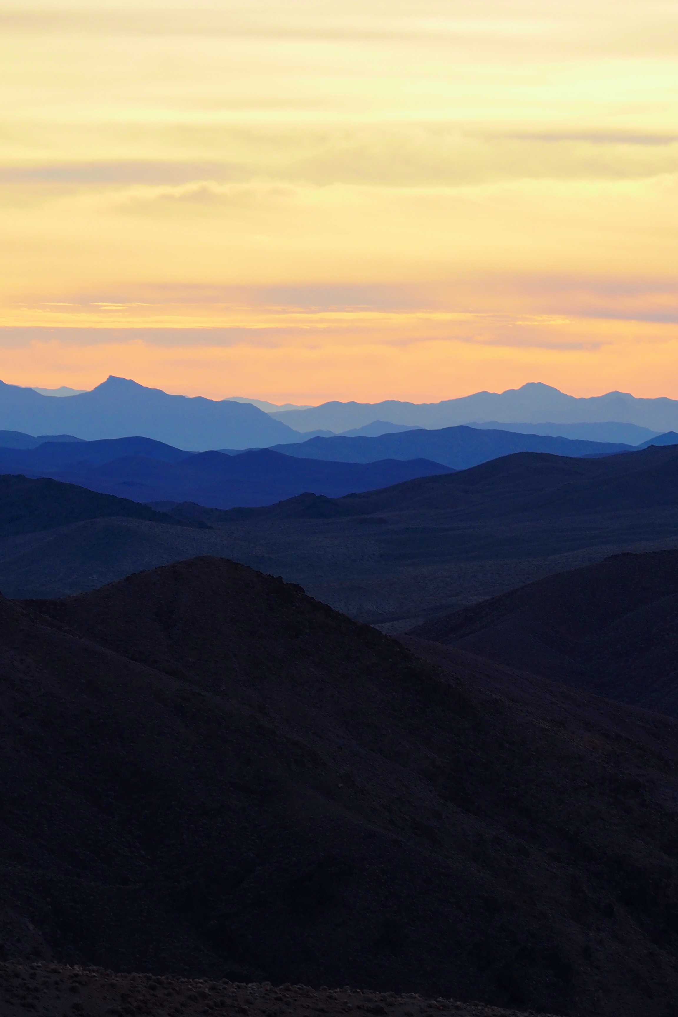 Dawn view from Dante's Peak, Death Valley, California