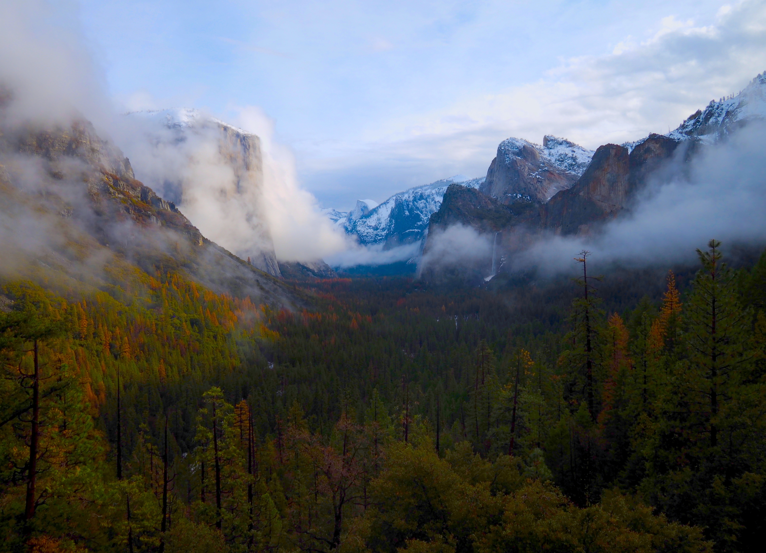 Morning Mist, Tunnel View, Yosemite National Park