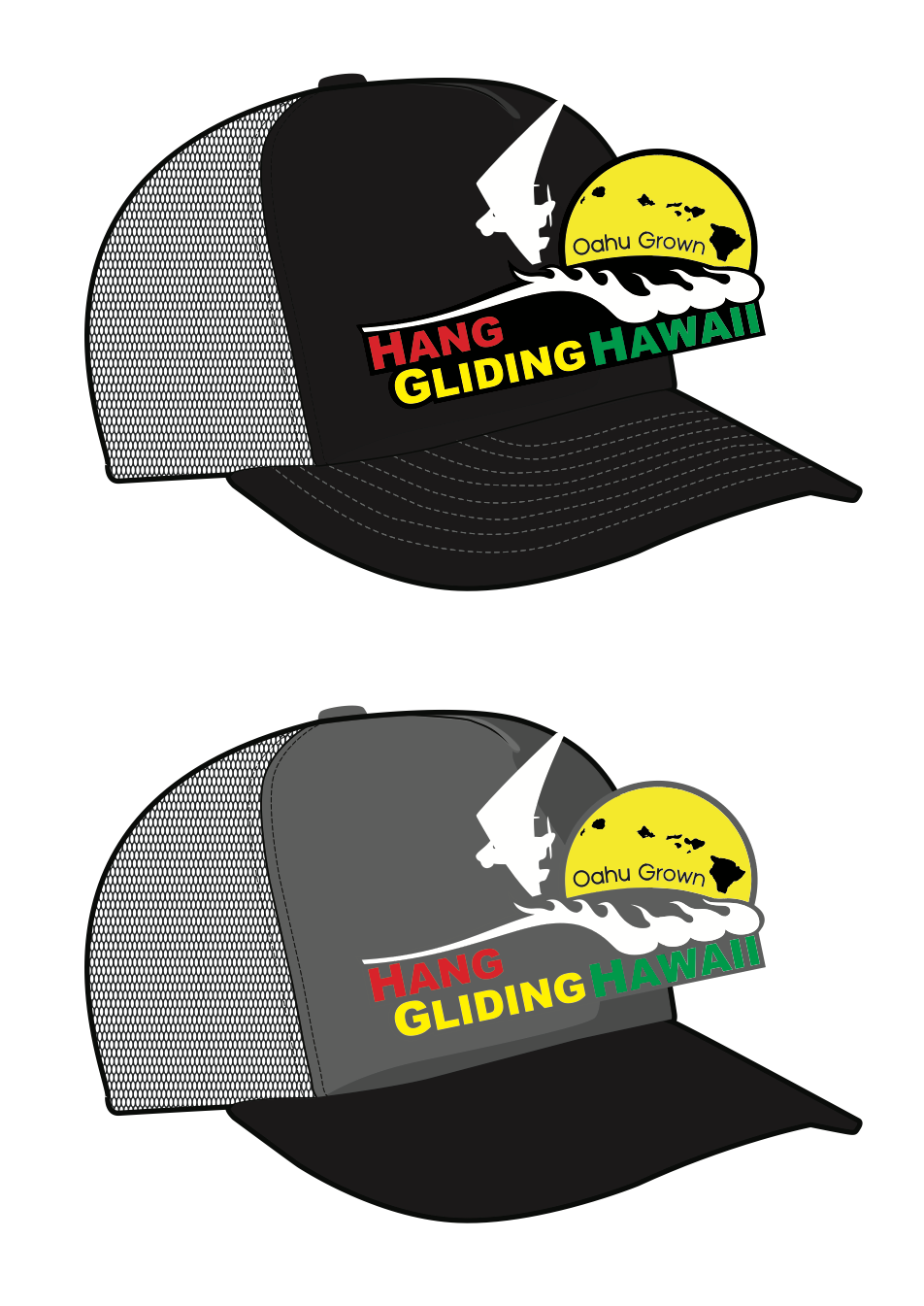 Black on Black Trucker Hats