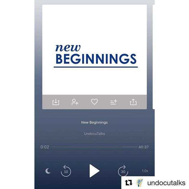 Check out our friends over at @undocutalks new episode and follow their awesome page as they embark in the Season 2 journey! #Repost @undocutalks with @get_repost ・・・ Season 2 | Ep. 1 | New Beginnings  UndocuTalks follows the journeys of three #UndocuScholars as they make their way into graduate, medical, & law school. 🎓 🎙 🎧