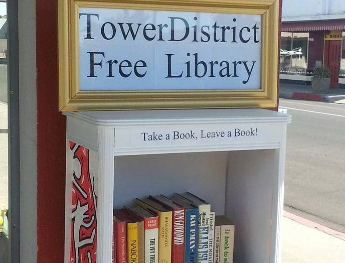 May 2014 - Collected books for the Tower District Free Neighborhood Library (Part of #LOVE4FRESNO)