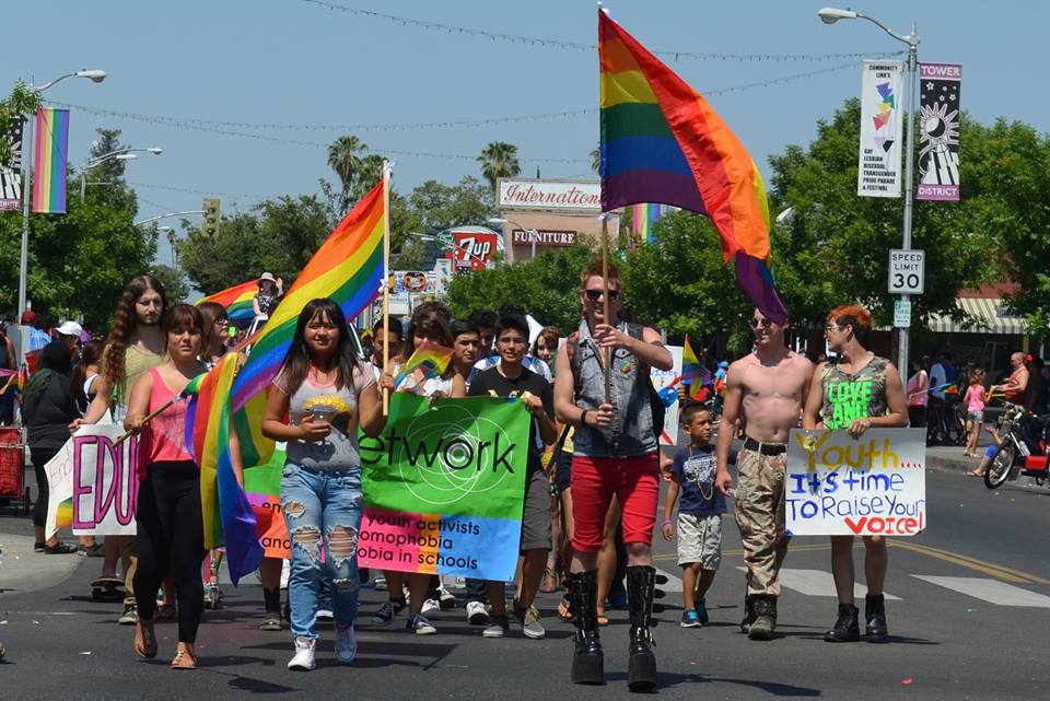 June 2014 - Sponsored the GSA Network Youth Parade entry and hosted our 2nd annual photo booth at Fresno Rainbow Pride