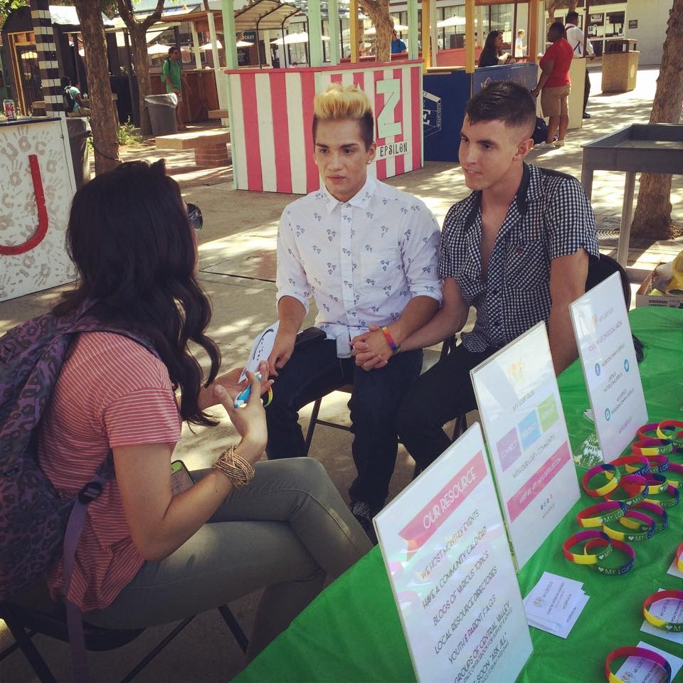 October 2014 - Participated in Be the Change at Fresno State offering resources to students