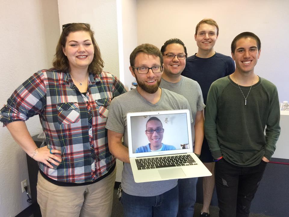 Left to Right: Megan, Dante, Jayson (Computer), Abel, Connor, Stefan