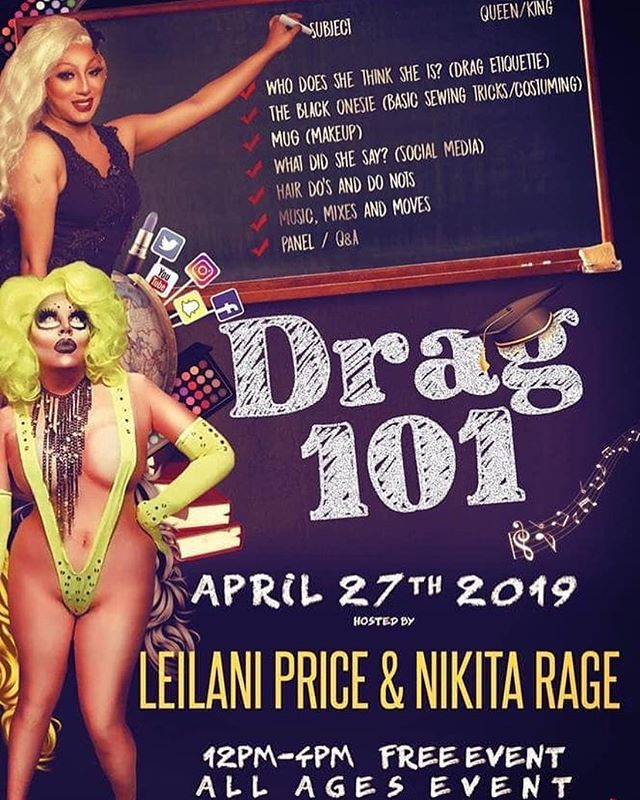 Tomorrow at @commonspacefresno: Drag 101!