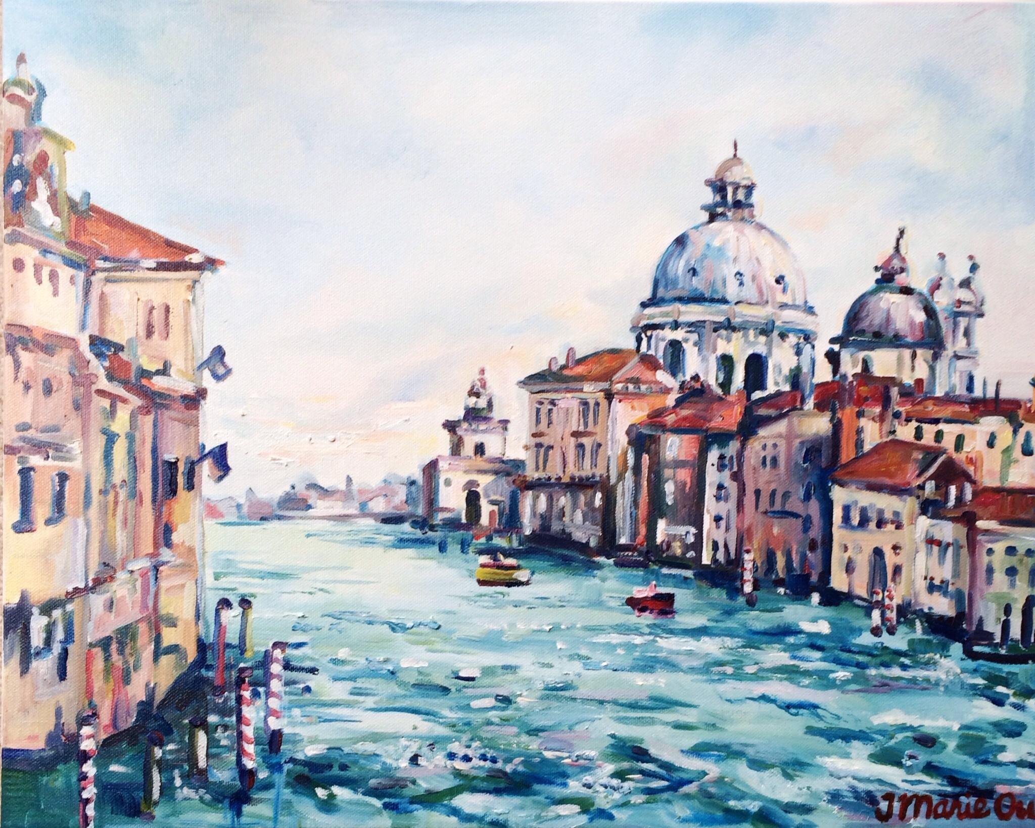 View of the Grand Canal (2014), 16x20, oil.