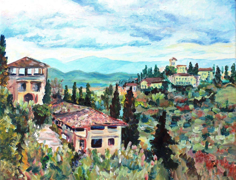 Castello di Verrazzano, 11x14, acrylic