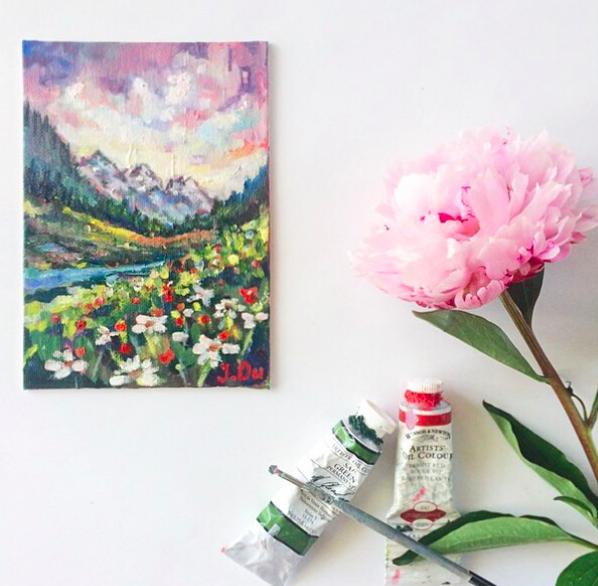 Where the Wildflowers Grow (2015), 5x7.