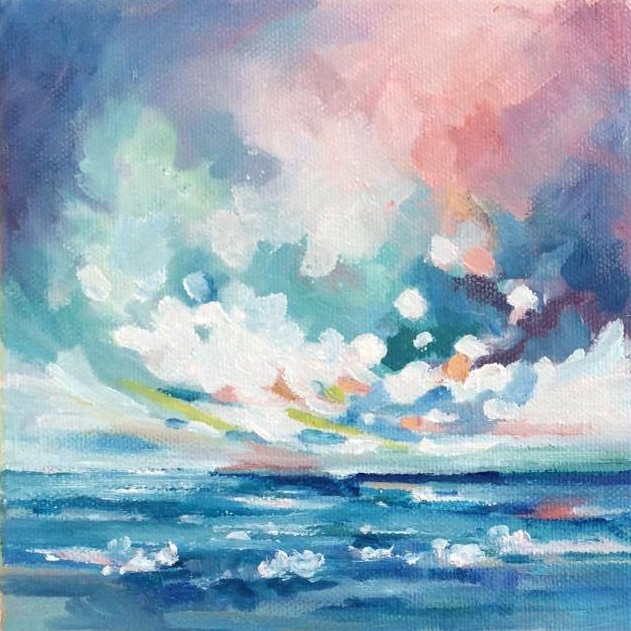 Rhythm of the Sea  6x6, oil on canvas - SOLD