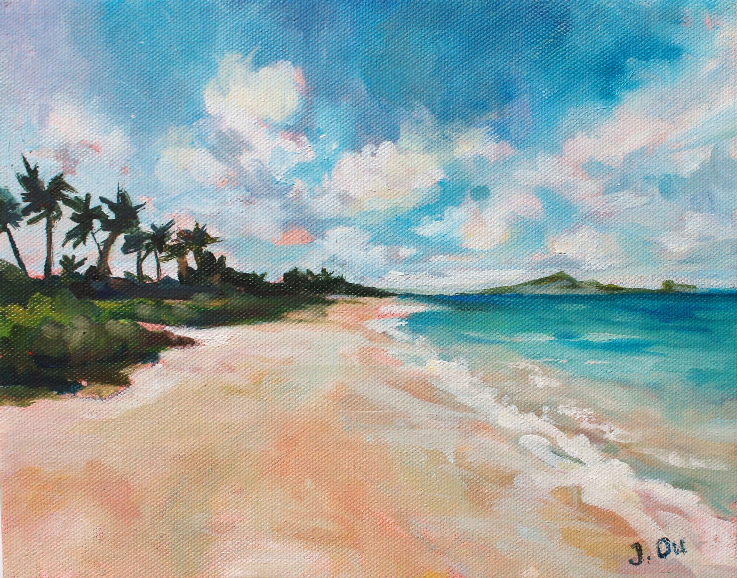 "Lanikai Beach  8x10"", oil on canvas - SOLD."