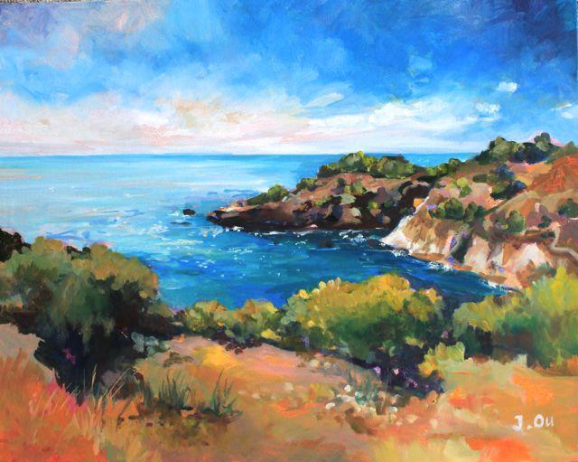 "Wild Rugged Coast  20x24"", oil on birch panel."