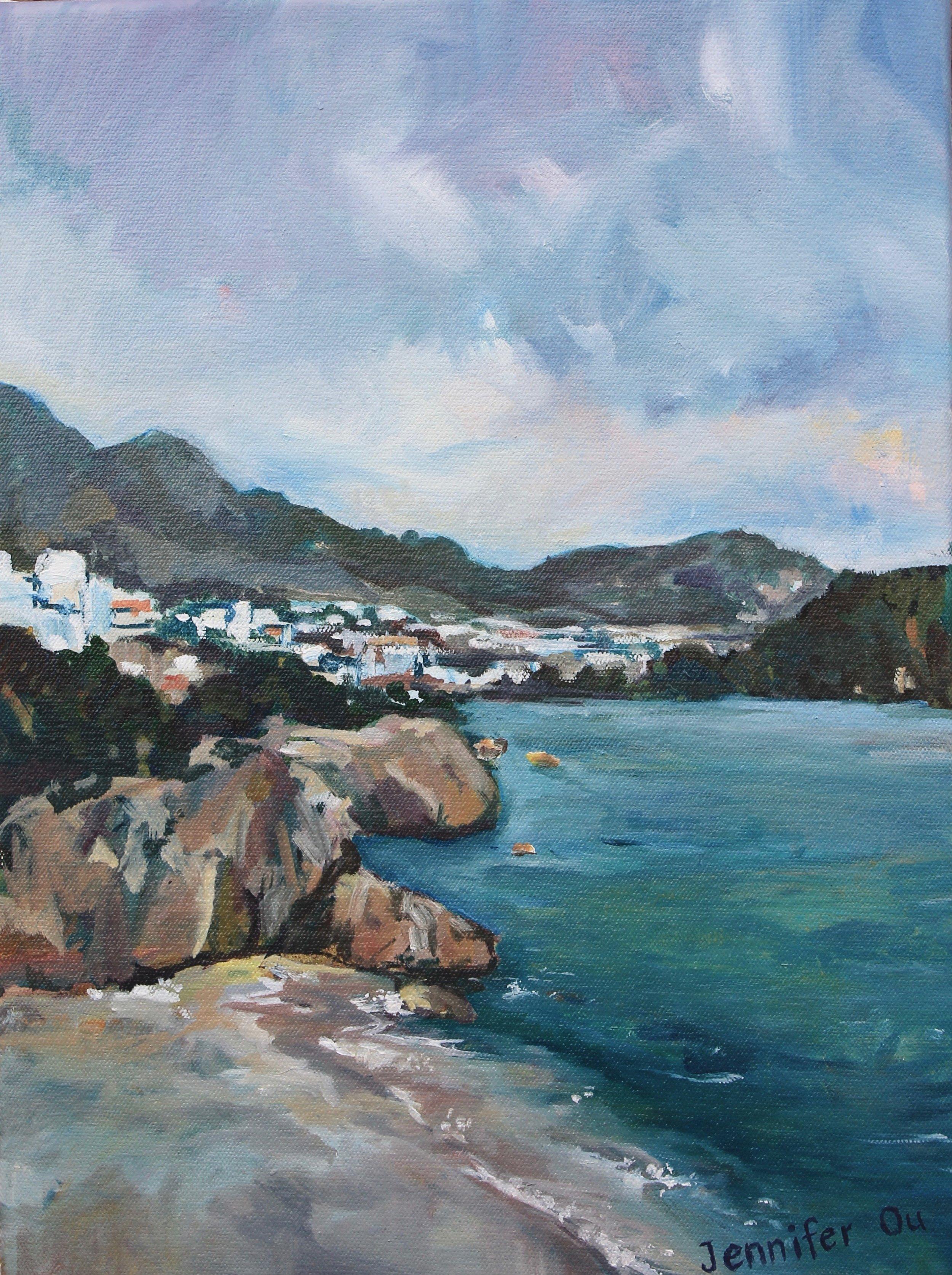 When in Málaga  12x16, oil on canvas. Sold