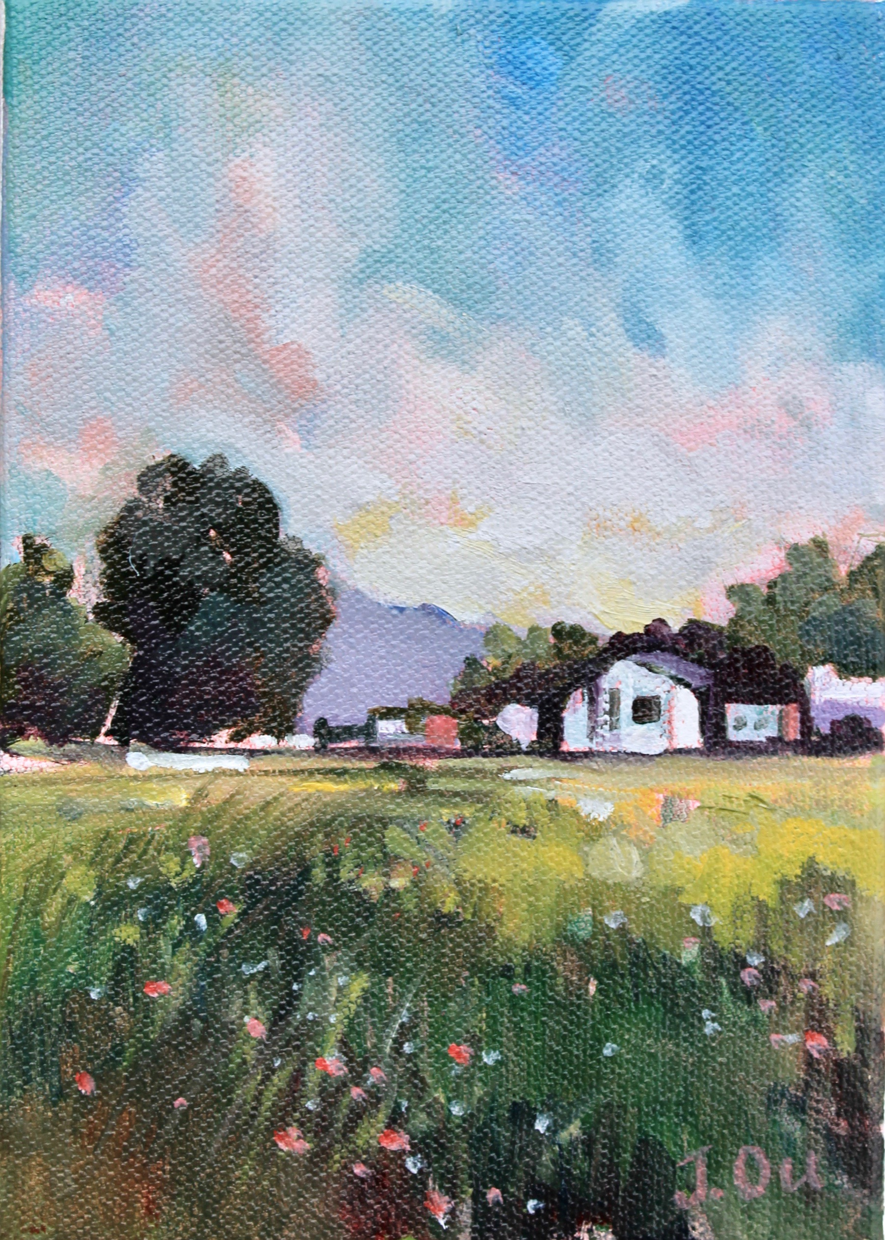 Through Dayton  5x7, oil on canvas. sold.
