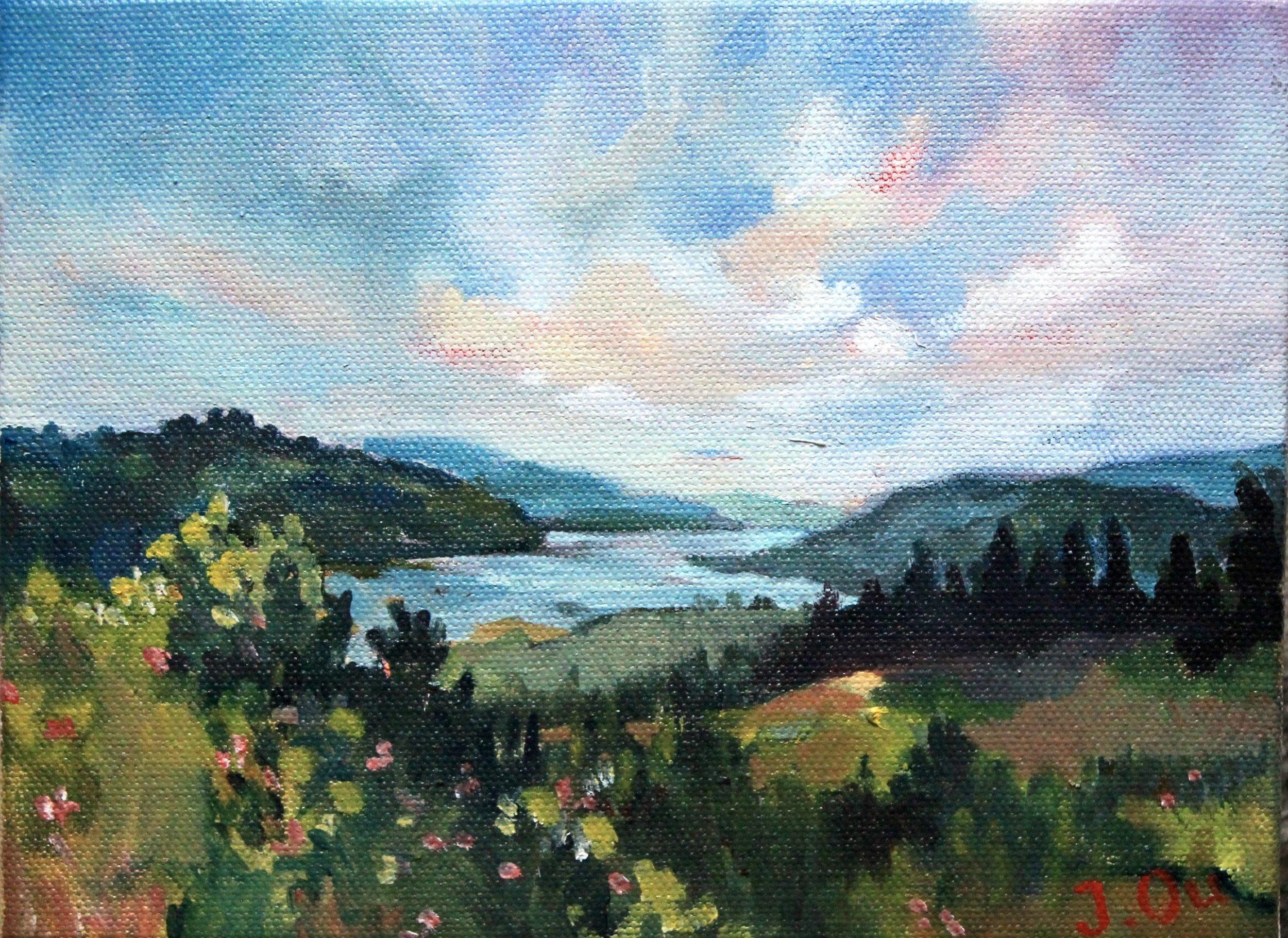 Rowena Crest.  6x8, oil on canvas.