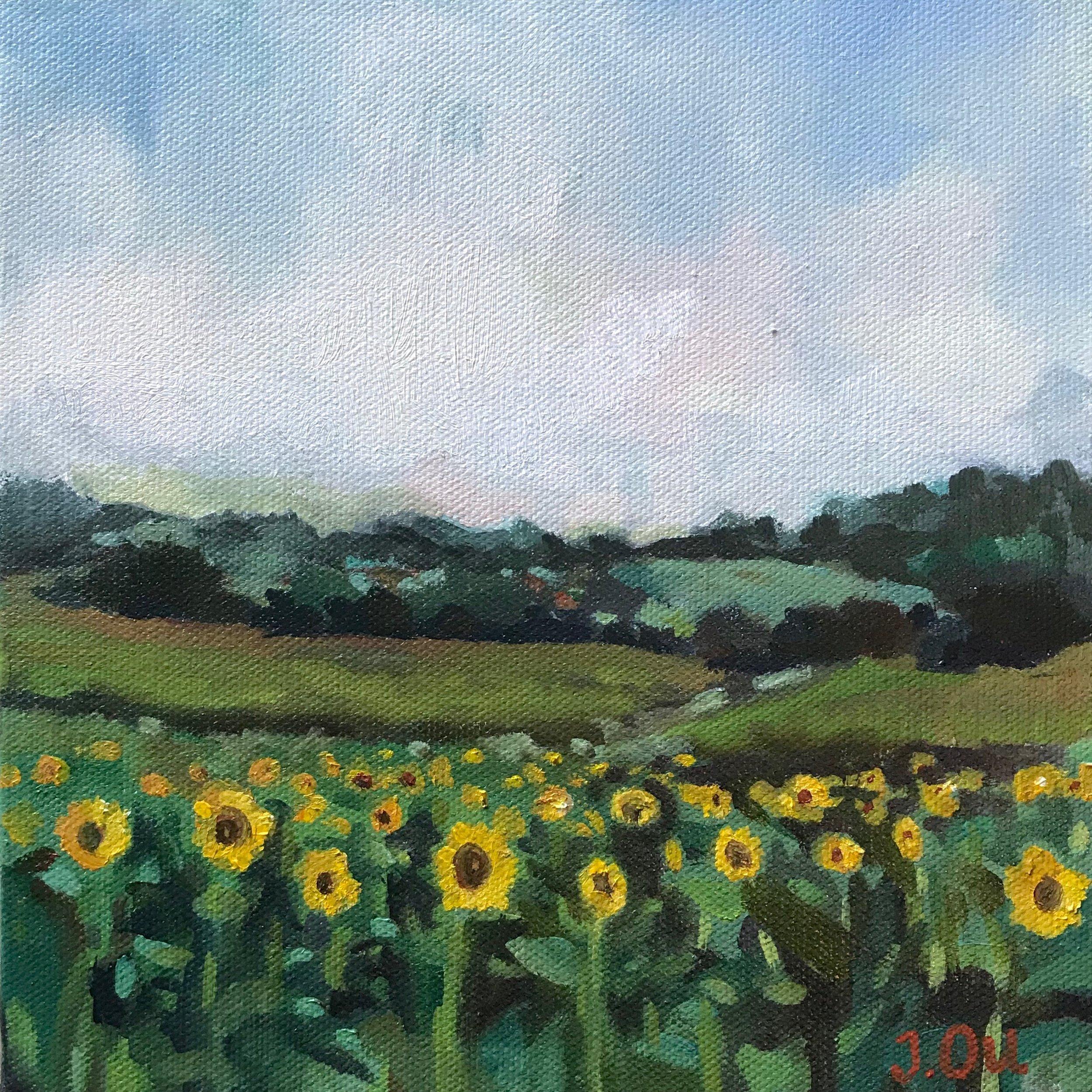 Like a Thousand Suns.  8x8, oil on canvas.