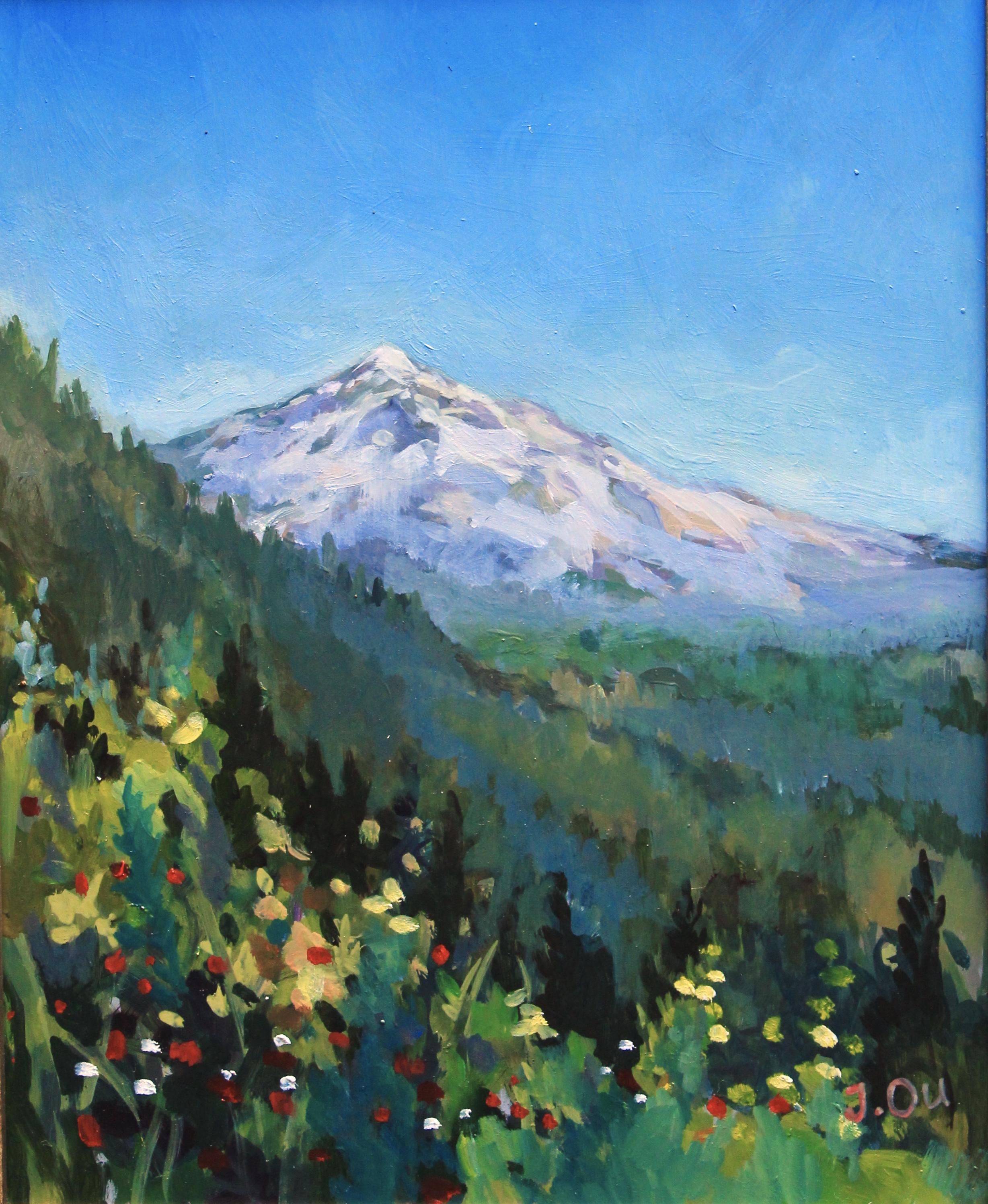 Mt. Hood (No.3)  8x10, oil on panel.