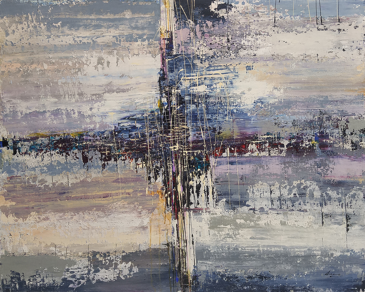 "Post Matrix Series"" Chrysalids"" 48"" x 60"" mixed media on canvas"
