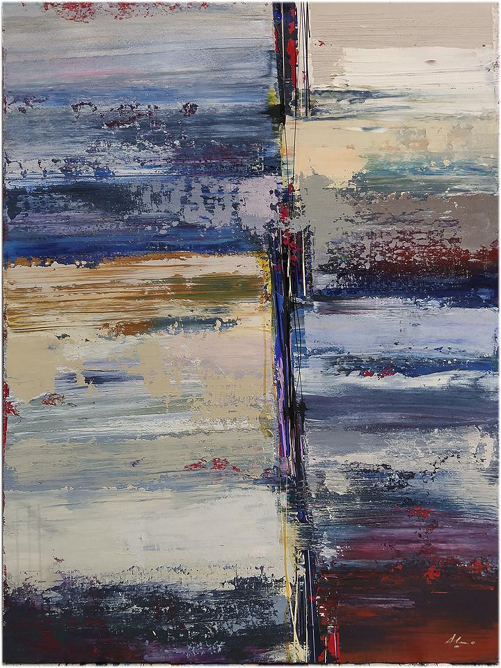 """""""Piacenza"""" 36"""" x 48"""" mixed media on canvas"""