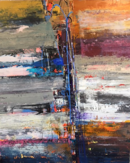 "Palisades 48"" x 40"" Acrylic on canvas"