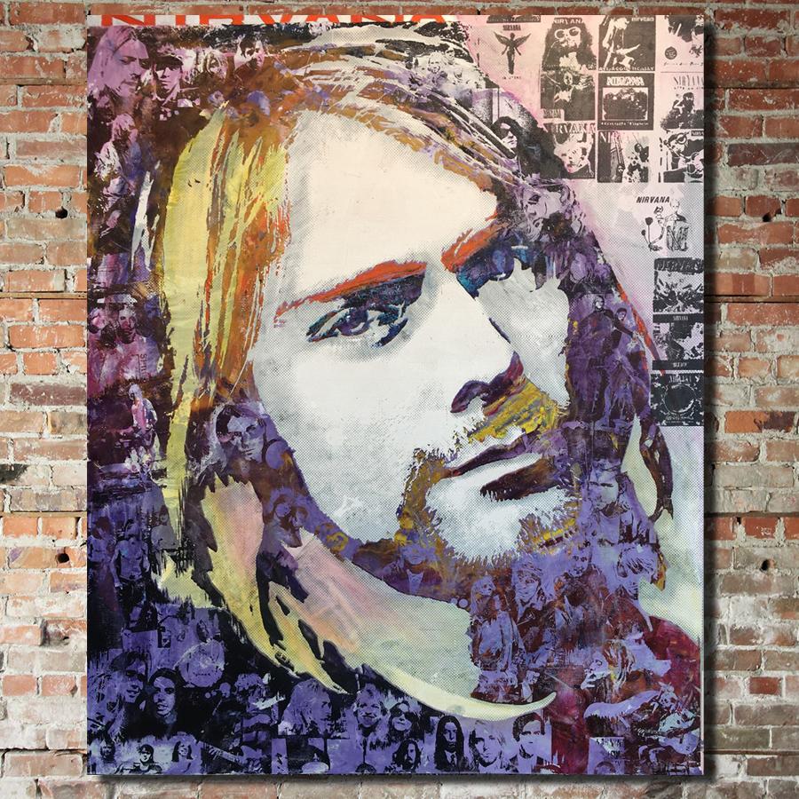 Nirvana: Begrungingly Yours 40 x 48 acrylic on wood panel