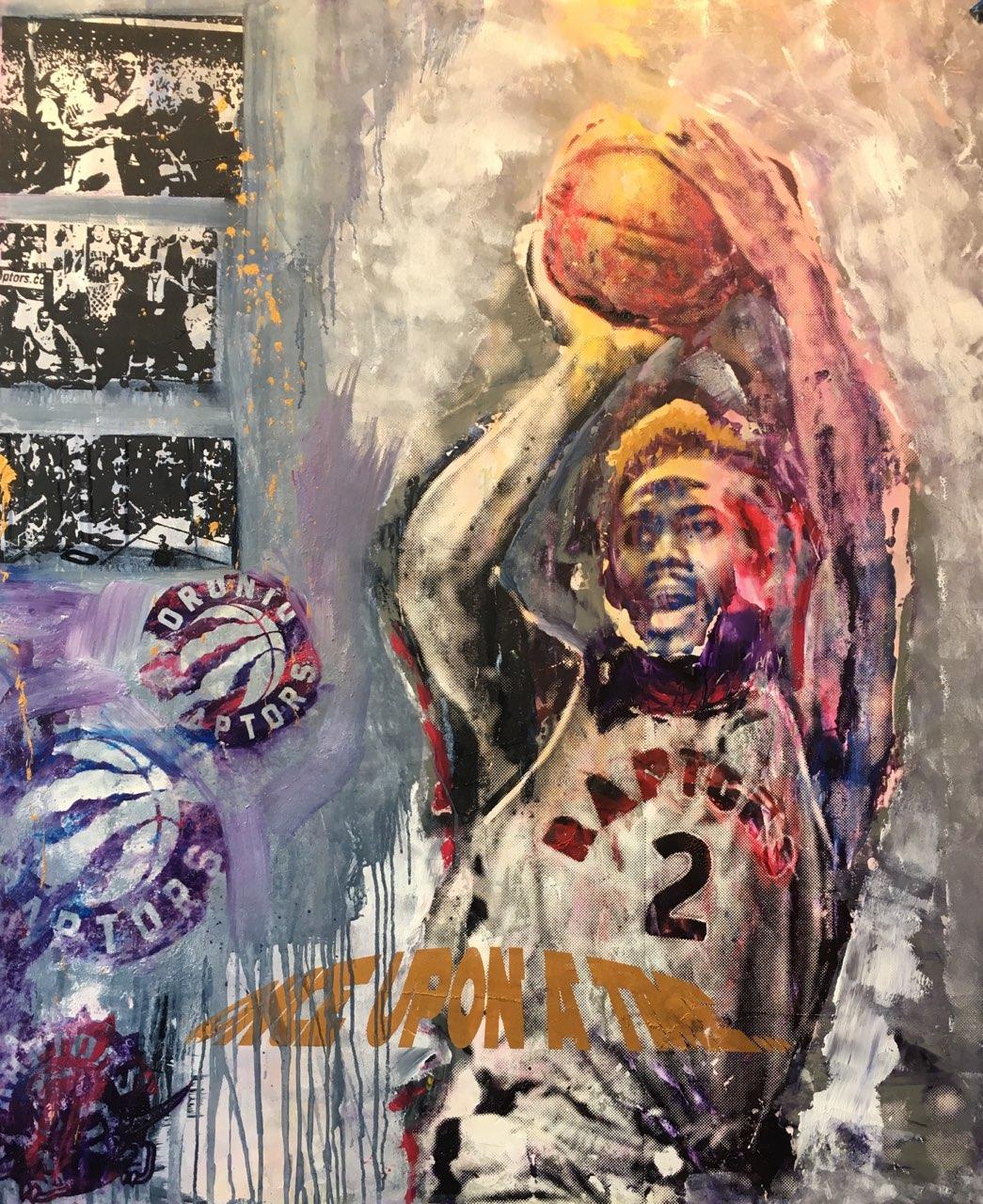 "Once Upon A Time 56"" x 46"" Acrylic on wood panel"