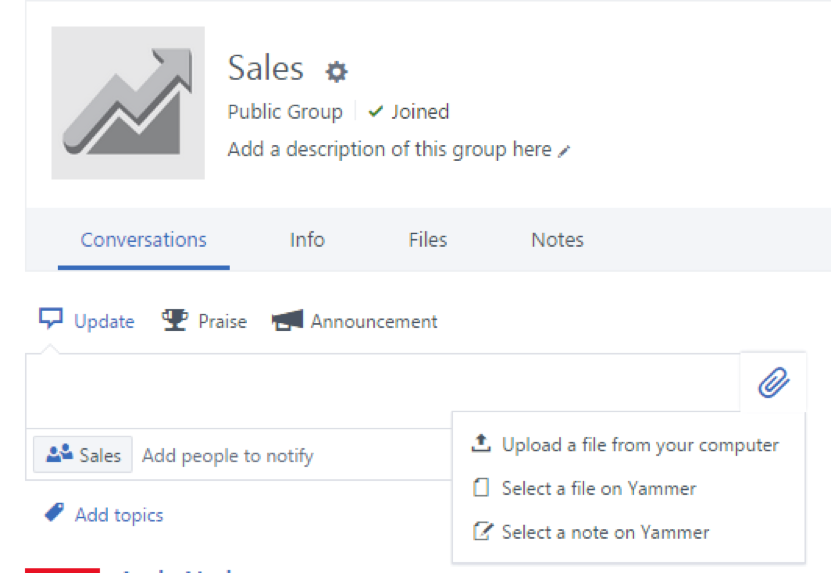 Yammer Sales