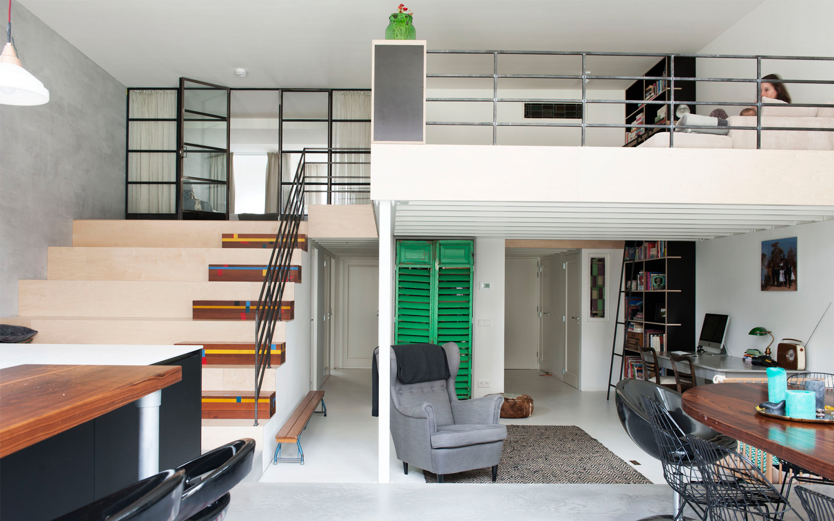 Within the empty casco,the families created their own homes. krft assisted 8 of the 24 families in their design.